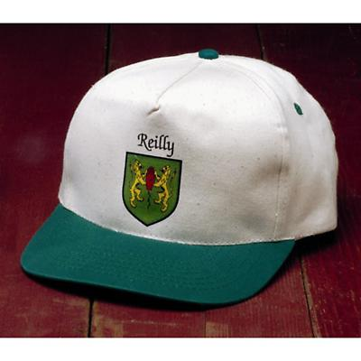 Personalized Irish Coat of Arms Kelly Green/Natural Cap