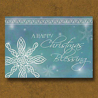 Irish Christmas - Celtic Knot Snowflake Christmas Cards