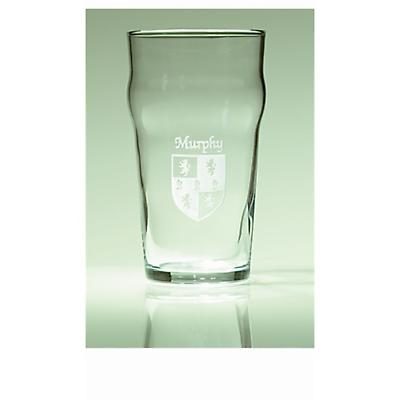 Personalized Irish Coat of Arms Pub Glasses - Set of 4