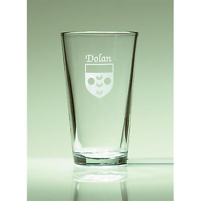 Personalized Irish Coat of Arms Pint Glasses - Set of 4