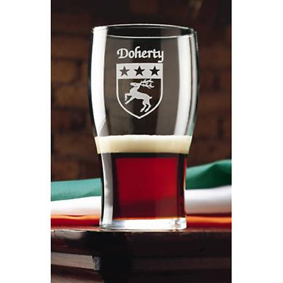 Personalized Irish Coat of Arms Tavern Glasses - Set of 4