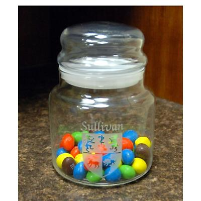 Personalized Coat of Arms Candy Jar with Lid
