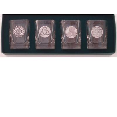 Celtic Symbols Shot Glasses - Set of 4
