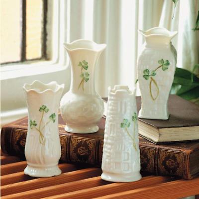 Belleek Vase - Shamrock Mini (set of 4)