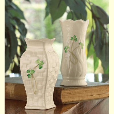 Belleek Vase - Shamrock Mini (set of 2)