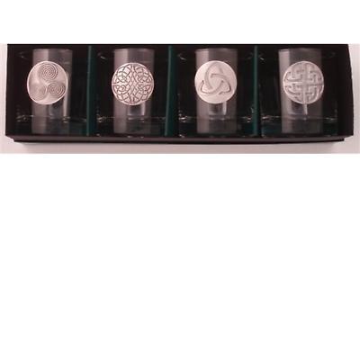 Celtic Symbols Lowball Glasses - Set of 4