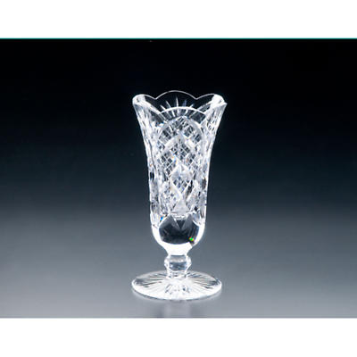 Irish Crystal - Heritage Irish  Crystal 8 inch Footed Flared Vase
