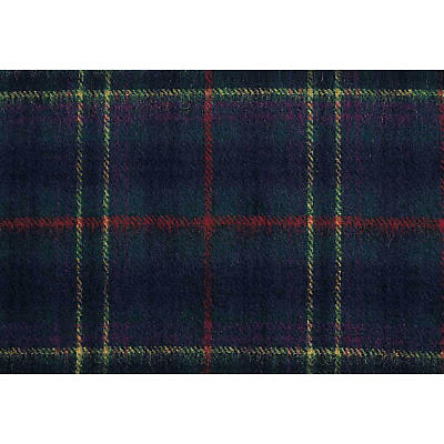 100% Lambswool Tartan Scarf - Green, Red and Yellow Plaid