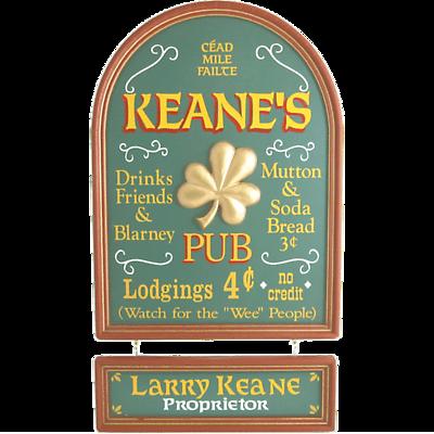 Personalized Irish Pub Hanging Nameboard