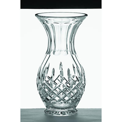 "Galway Crystal Longford 10"" Footed Bulb Vase"