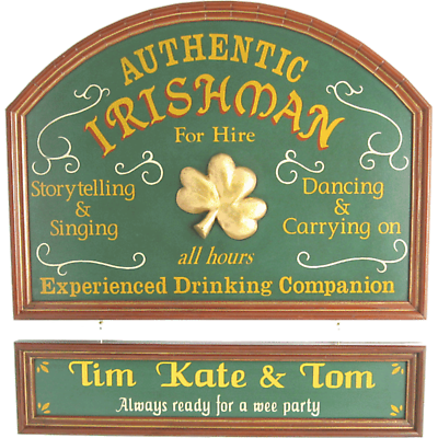 Personalized Authentic Irishman Sign