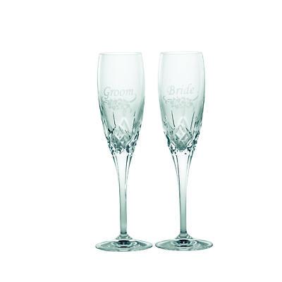 Galway Crystal Bride & Groom Toasting Glasses