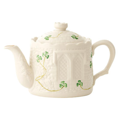 Belleek Shamrock Castle Teapot