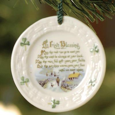 Irish Christmas - Belleek Irish Blessing Ornament