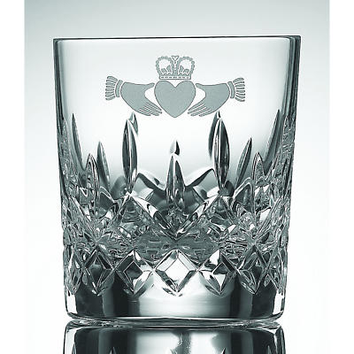 Galway Crystal Claddagh Double Old Fashioned Glass - 10 oz (Pair)