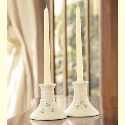 Belleek Tara Candlesticks (Pair)