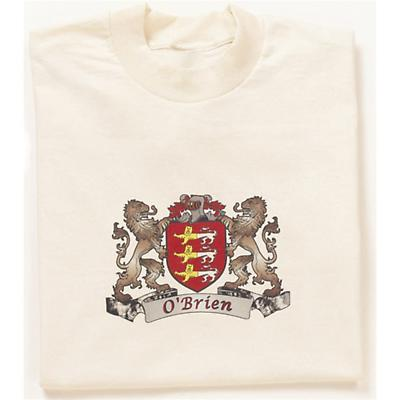 Irish T-Shirt - Personalized Coat of Arms (Natural)