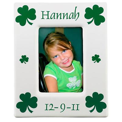Personalized Shamrock Picture Frame