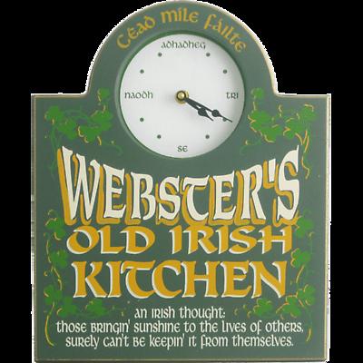 Personalized Irish Clock