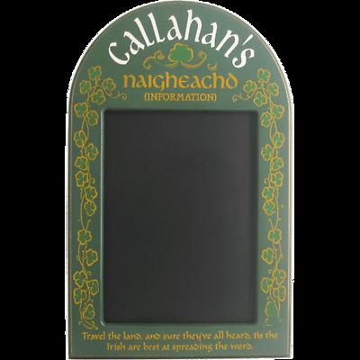 Personalized Irish Chalkboard
