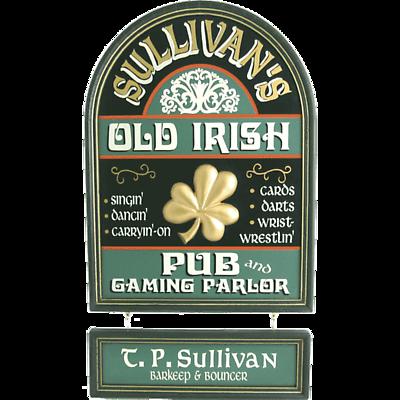Personalized Old Irish Pub Sign