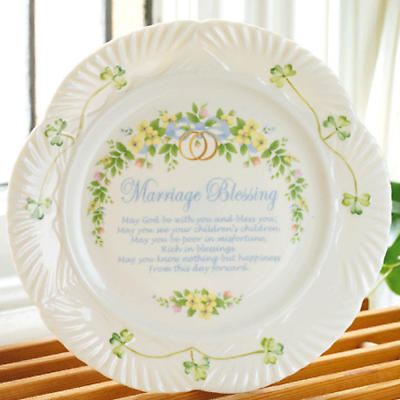 Belleek Marriage Blessing Plate At Irishshop Com Blk3380
