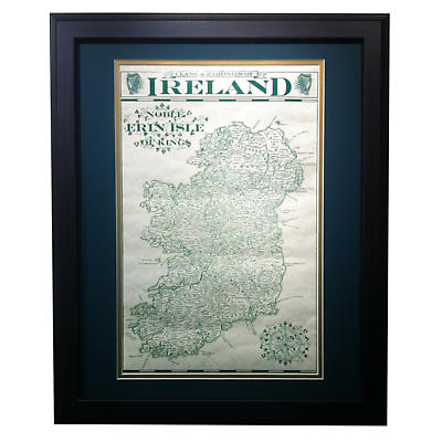 Clans & Baronies of Ireland - Matted and Framed Print