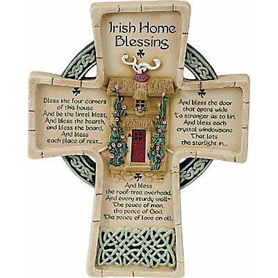 """""""Irish Home Blessings"""" Celtic Cross"""