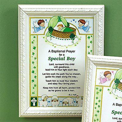 Irish Baptismal Prayer Print -- Boy