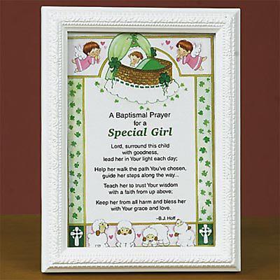 Irish Baptismal Prayer Print -- Girl