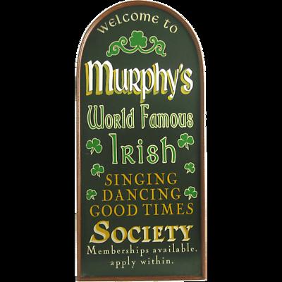 Personalized Irish Society Sign