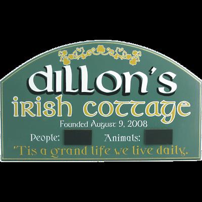 Personalized Irish Cottage Sign