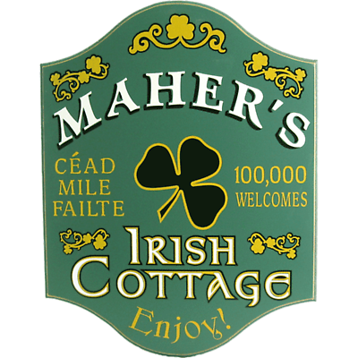 Personalized Irish Rose Cottage Sign