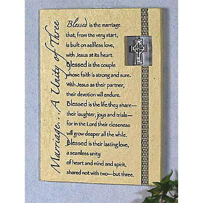 Irish Wedding Plaque with Charm