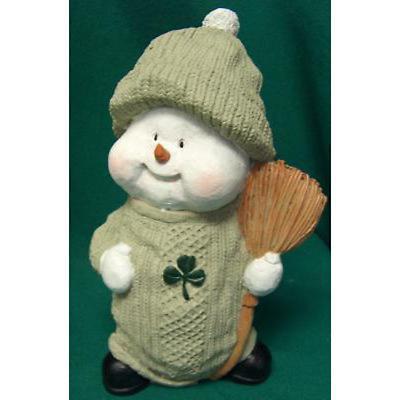 Irish Christmas - Aran Snowman Figurine