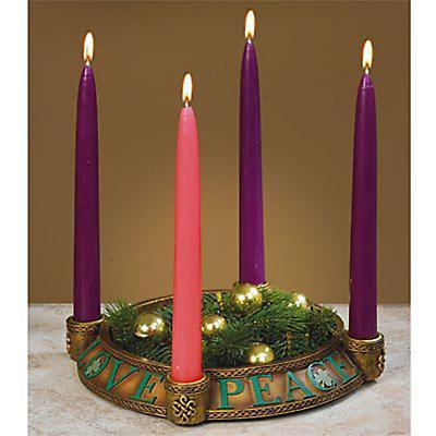 Irish Christmas - Peace, Love, Joy, Hope Advent Candleholder
