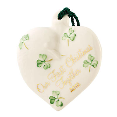 Irish Christmas - Belleek Our First Christmas Together 2012 Ornament
