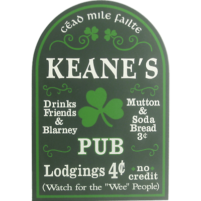 Personalized Irish Pub Small Sign