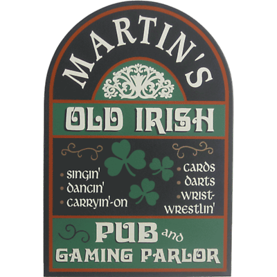 Personalized Old Irish Pub Sign