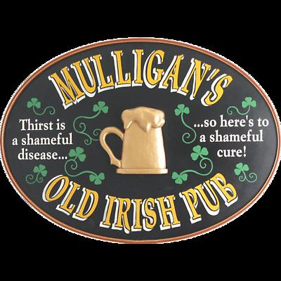 Personalized Irish Pub Oval Sign
