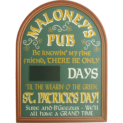 Personalized St. Patrick's Day Countdown Sign