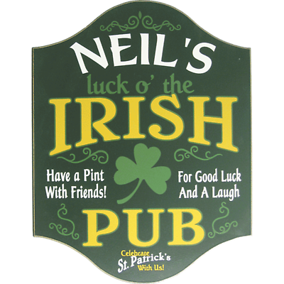Personalized Luck O' The Irish Sign