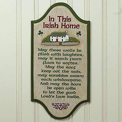 """""""In This Irish Home"""" Textured Wall Plaque"""
