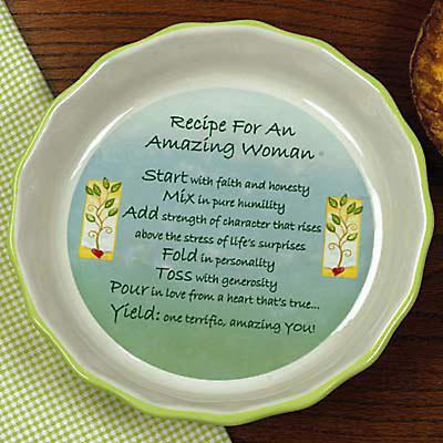 """Amazing Woman"" Pie Plate"