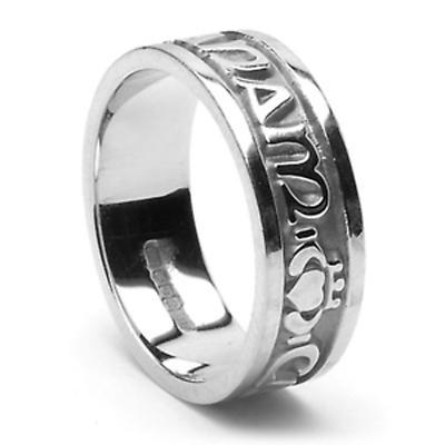 """Irish Rings - Men's Platinum Mo Anam Cara Ring """"My Soul Mate"""" Ring"""