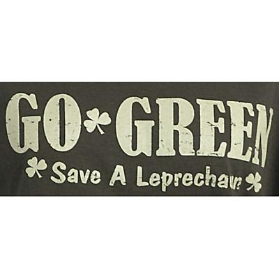 Irish T-Shirt - Go Green - Save a Leprechaun Organic