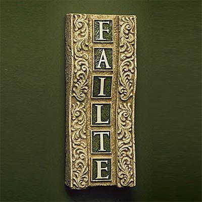 """""""Failte"""" Plaque"""