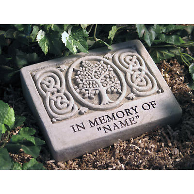 """Personalized Celtic Tree """"In Memory Of"""" Stone"""
