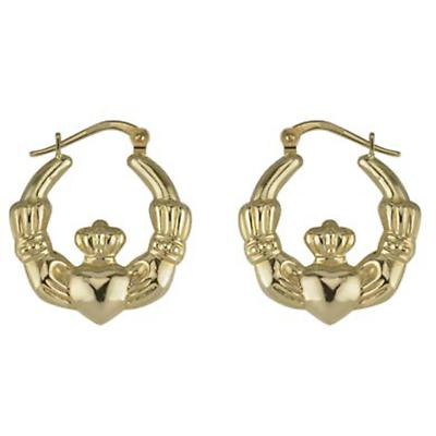 14k Yellow Gold Claddagh Hoop Earring Single - One Time offer