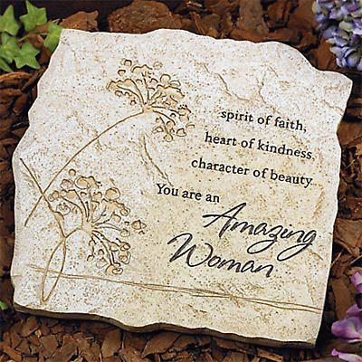 """Amazing Woman"" Garden Stone"